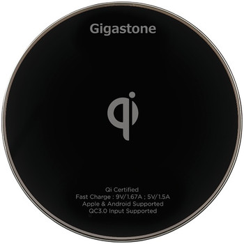 GA-9600 Qi(R)-Certified Fast Wireless Charger (Black)