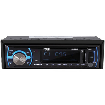 Single-DIN In-Dash Digital Marine Stereo Receiver with Bluetooth(R) (Black)