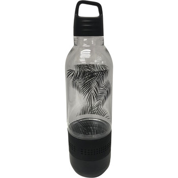 Holographic Light Water Bottle with Integrated Bluetooth(R) Speaker (Black)