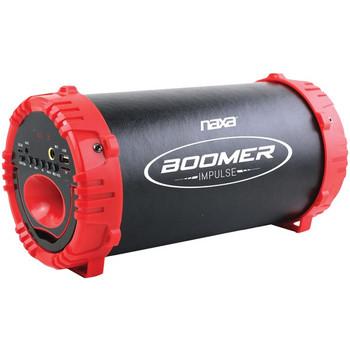 BOOMER IMPULSE LED Bluetooth(R) Boom Box (Red)