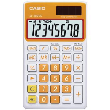 Solar Wallet Calculator with 8-Digit Display (Orange)