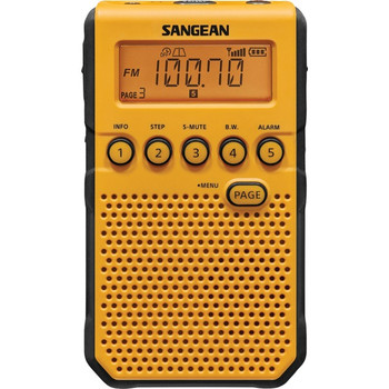 AM/FM/NOAA(R) Weather Alert Pocket Radio (Yellow)