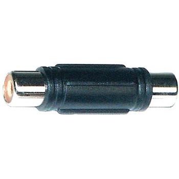 RCA-Barrel Female Nickel Connectors, 10 pk