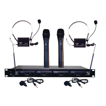 4-Channel VHF Wireless Rack-Mount Microphone System
