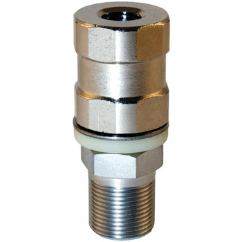 Super-Duty CB Stud Stainless Steel SO-239, All Thread & Contact Pin