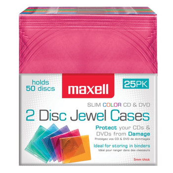 Dual-Disc Jewel Cases, 25 Pack