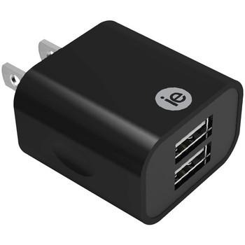 2.4-Amp Dual USB Wall Charger (Black)