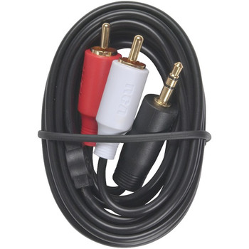 MP3 3.5mm to 2 RCA Plugs Y-Adapter, 3ft