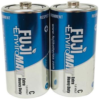 EnviroMax(TM) C Extra Heavy-Duty Batteries, 2 pk