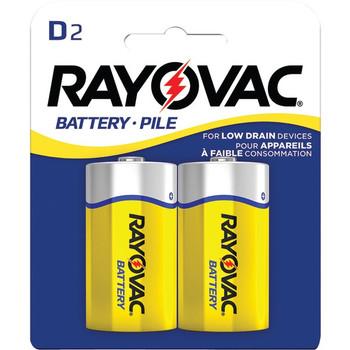 Heavy-Duty Carded D Batteries, 2 pk