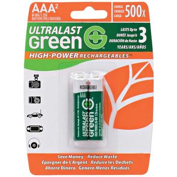 Green High-Power Rechargeables AAA NiMH Batteries, 2 pk