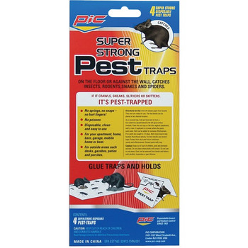 Glue Pest Trap for Spiders & Snakes, 4 pk