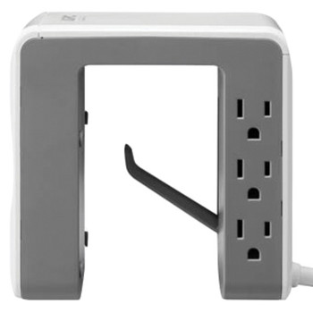 Essential SurgeArrest(R) Desk-Mount Power Station with 6 Outlets and 4 USB Charging Ports (White)