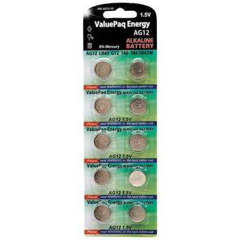 ValuePaq Energy AG12 Alkaline Button Cell Batteries, 10 Pack
