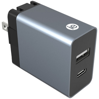 3.4-Amp Dual Port Wall Charger with USB and USB-C(TM)