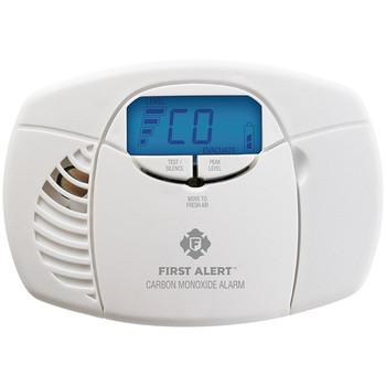 Battery-Powered Carbon Monoxide Alarm with Backlit Digital Display