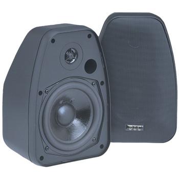 125-Watt 2-Way 5.25-Inch Indoor/Outdoor Speakers with Keyholes for Versatile Mounting (Black)