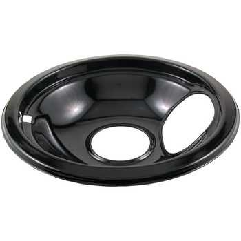"Black Porcelain Replacement Drip Pan (6"")"