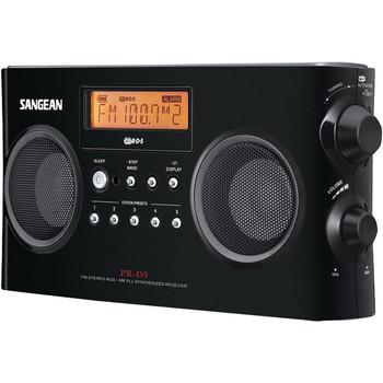 Digital Portable Stereo Receiver with AM/FM Radio (Black)