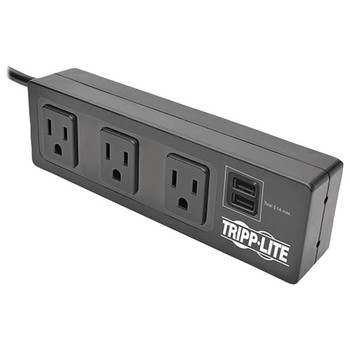Protect It!(R) 3-Outlet Surge Protector with 2 USB Ports & Desk Clamp