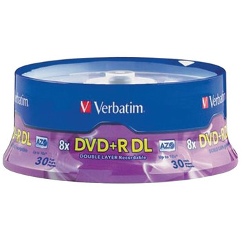 8.5GB Dual-Layer DVD+Rs (30-ct Spindle)