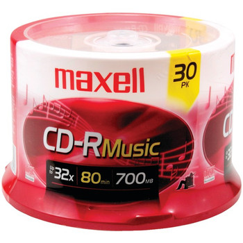 80-Minute Music CD-Rs (30-ct Spindle)