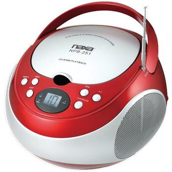 Portable CD Player with AM/FM Radio (Red) - NAXNPB251RD