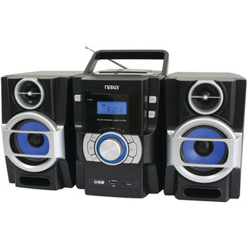 Portable CD/MP3 Player with PLL FM Radio, Detachable Speakers & Remote