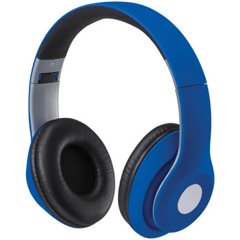 Bluetooth(R) Over-the-Ear Headphones with Microphone (Matte Blue)