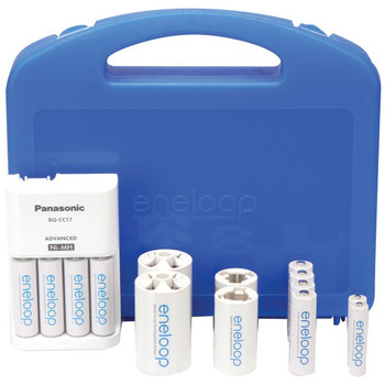 4-Position Charger with 2 AAA & 8 AA eneloop(R) Batteries & 2 C & 2 D Spacers