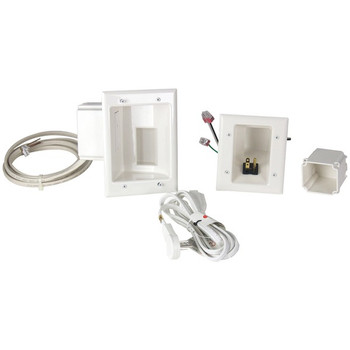 Flat Panel TV Cable Organizer Kit with Duplex Power Solution