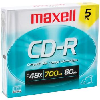 700MB 80-Minute CD-Rs (5 pk; Slim Jewel Cases)