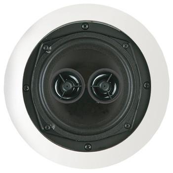 "75-Watt 5.25"" Dual Voice-Coil Stereo In-Ceiling Speaker"