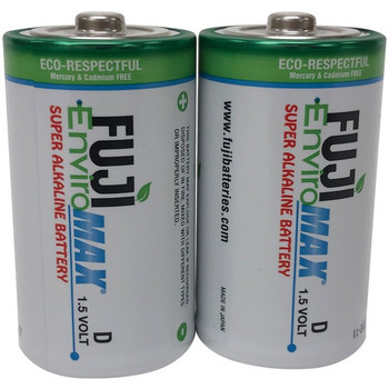 EnviroMax(TM) D Super Alkaline Batteries, 2 pk
