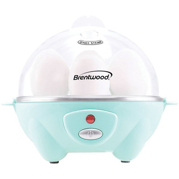 Electric Egg Cooker with Auto Shutoff (Blue)