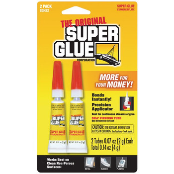 Super Glue Tubes, 2 pk