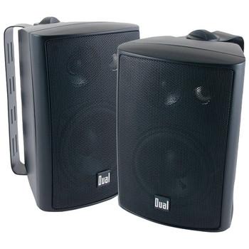 """4"""" 3-Way Indoor/Outdoor Speakers (Black)"""