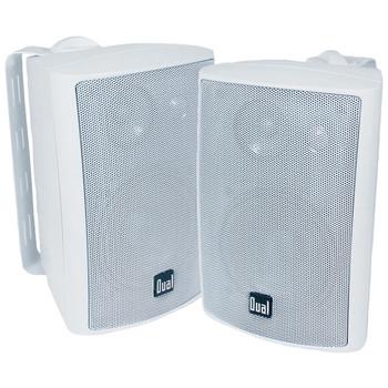 """4"""" 3-Way Indoor/Outdoor Speakers (White)"""