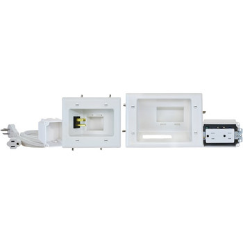 Recessed Pro-Power Kit with Duplex Receptacle & Straight Blade Inlet