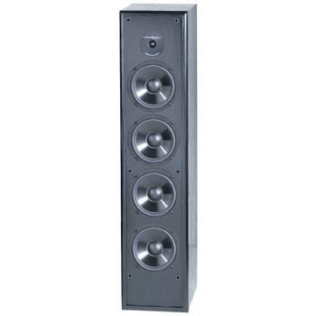 250-Watt 2-Way 8-Inch Slim-Design Tower Speaker for Home Theater and Music