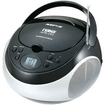 Portable CD/MP3 Players with AM/FM Stereo (Black)