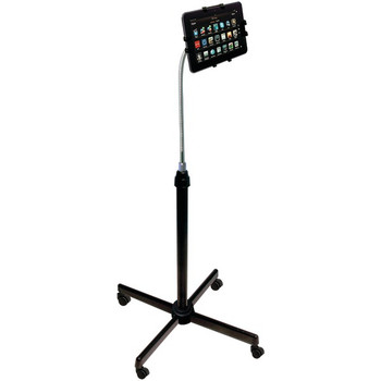 Height-Adjustable Gooseneck Stand with Casters for iPad(R)/Tablet