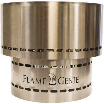 Flame Genie INFERNO(R) Wood Pellet Fire Pit (Stainless Steel)