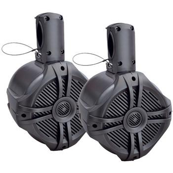 "Marine-Grade 8"" 750-Watt Wake Tower Enclosure & Speaker System (Titanium)"