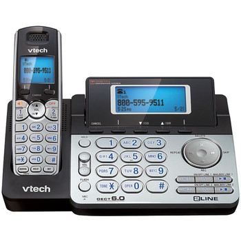DECT 6.0 Cordless 2-Line Phone System with Digital Answering System (Single-Handset System)