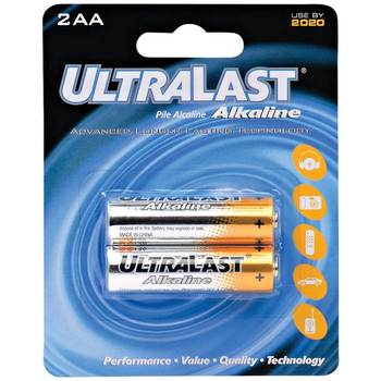 ULA2AA AA Alkaline Batteries, 2 pk