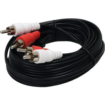 Dual RCA Composite Audio Cables, 15ft