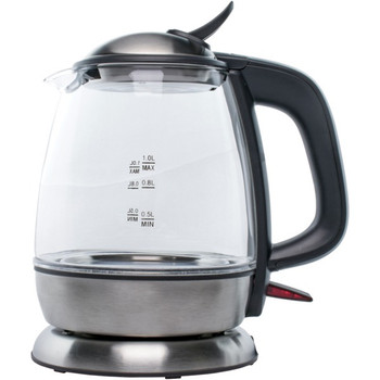 1-Liter Cordless Glass Electric Kettle