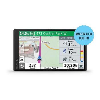 DriveSmart 65 6.95-Inch GPS Navigator with Amazon(R) Alexa(R), Bluetooth(R), Wi-Fi(R), and Traffic Alerts