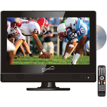 """13.3"""" 720p Widescreen LED HDTV/DVD Combination, AC/DC Compatible with RV/Boat"""